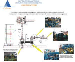 Структурная схема автоматизированной линии резки и транспортно-укладочных операций с кирпичом сырцом для камерной...